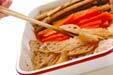 豚肉と根菜の揚げ炒めの下準備2