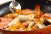 ベーコンとちくわのマヨ炒めの作り方3