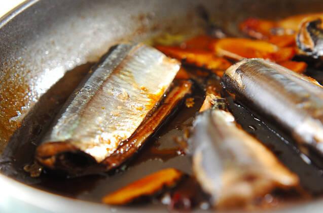 サンマの黒酢煮の作り方の手順5