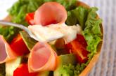 フルーツとハムのサラダの作り方3