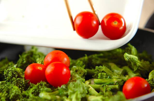 菜の花のマスタード炒めの作り方の手順4