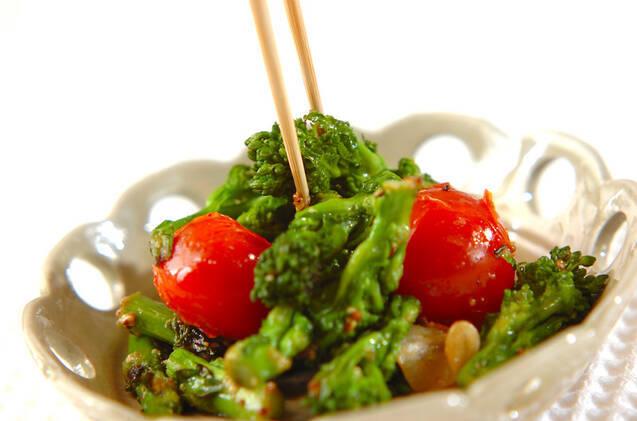 菜の花のマスタード炒めの作り方の手順5