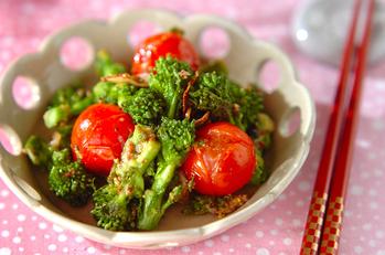 菜の花のマスタード炒め