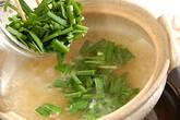 ニラ雑炊の作り方1