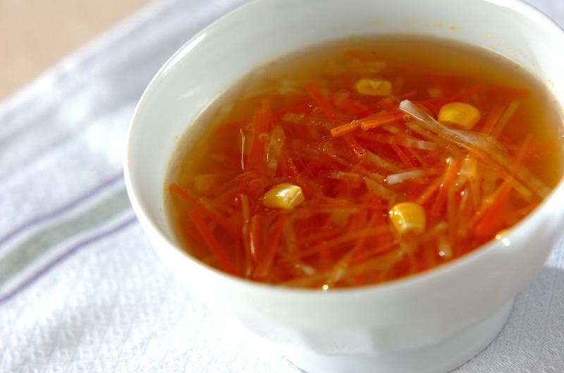 大根と人参のコンソメスープ