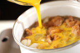 鶏唐の卵とじの作り方3