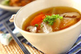 具だくさん!冬瓜のスープ