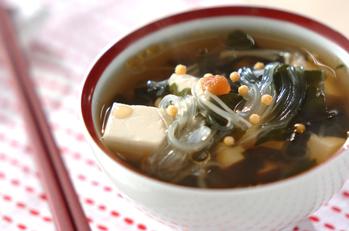 梅と春雨のスープ