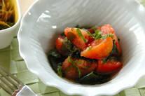 トマトと大葉のサラダ