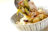 白菜漬けのあんかけにゅうめんの作り方3
