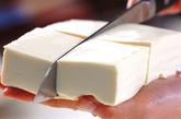 豆腐のキムチ煮の下準備1