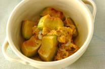 卵とアボカドの炒め物