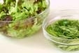 ミツバとジャコのサラダの下準備2