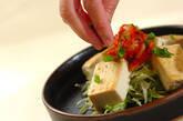 豆腐ステーキキムチのせの作り方2