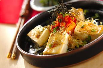 豆腐ステーキキムチのせ