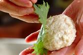 鶏と豆腐のつくね丼弁当の作り方1