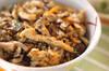 キノコの炊き込みご飯の作り方の手順