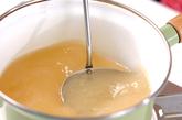 インゲンの卵スープの作り方1