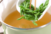 インゲンの卵スープの作り方2