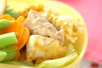 サバのみそ煮と豆腐の卵炒め
