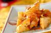 タケノコのバターじょうゆ炒めの作り方の手順