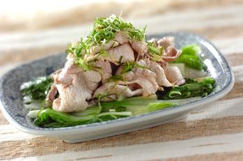 しろ菜と豚肉の夏おかず