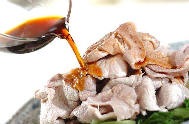 しろ菜と豚肉の夏おかずの作り方の手順3