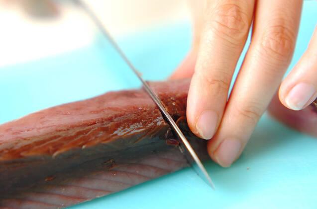 カツオの香味煮の作り方の手順1