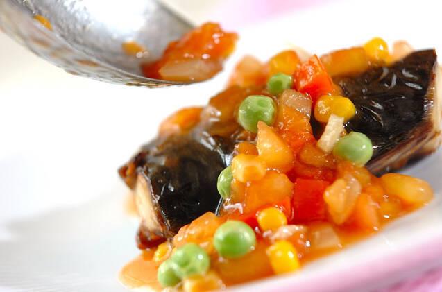 焼き塩サバの野菜ダレの作り方の手順6