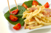 ソーセージのカレーマカロニサラダの作り方2