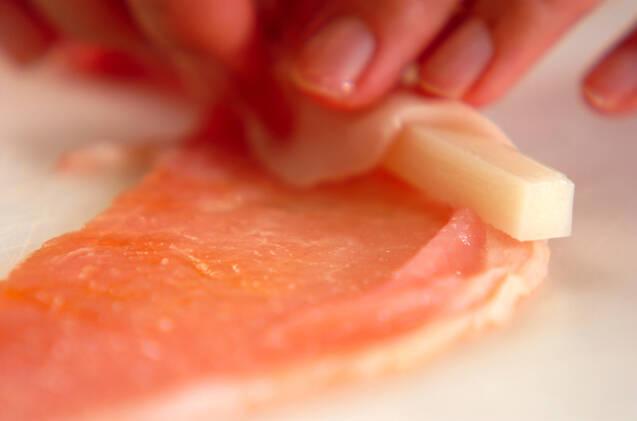 お餅と豚肉のショウガ焼きの作り方の手順5