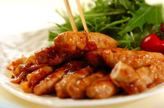 お餅と豚肉のショウガ焼きの作り方の手順8