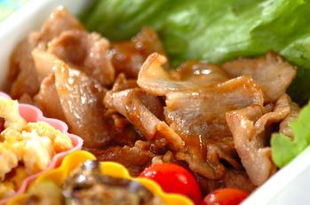 薄切り豚肉のママレード炒め