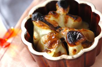 リンゴとチーズの焼きデザート