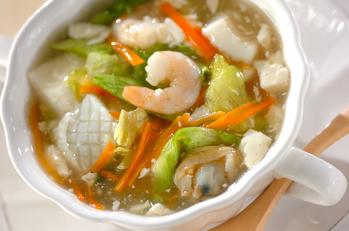 レタスと豆腐の中華スープ