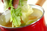 レタスと豆腐の中華スープの作り方2