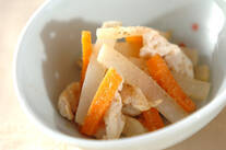 大根とニンジンの甘酢炒め