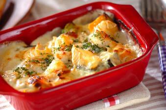 ホタテのカマンベールチーズグラタン