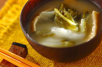 白菜と油揚げのとろとろ雑煮