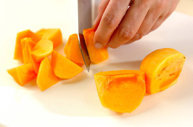 柿ジャムの作り方の手順1