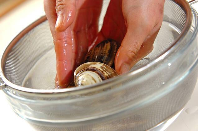 ハマグリのお吸い物の作り方の手順1