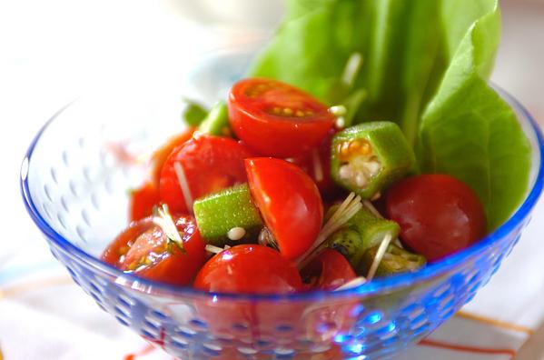 プチトマトとオクラのサラダ