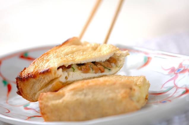 油揚げの納豆サンドの作り方の手順4