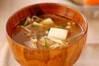 エノキのみそ汁の作り方の手順