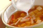 かき玉汁の作り方1