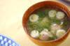 鶏団子のおろし汁の作り方の手順