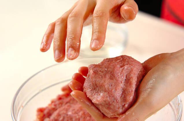 チーズハンバーグの作り方の手順4