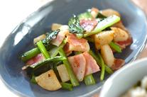 小松菜と長芋のエスニック炒め