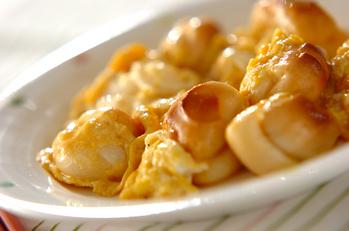 フワフワ卵と麩の炒め物