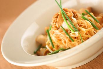 生ウニのスープスパゲティ